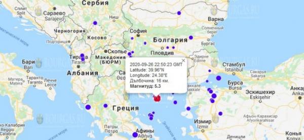В Болгарии ощутили сильное землетрясение