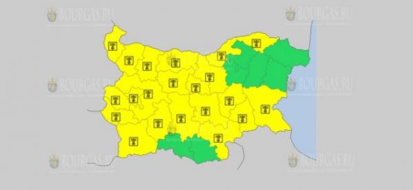 На 7-е июля в Болгарии — жаркий Желтый код опасности