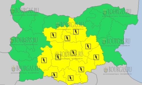 7 июня в Болгарии — грозовой и дождливый Желтый код опасности