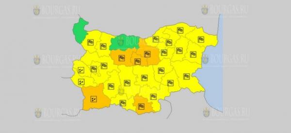 На 26 сентября в Болгарии — ветреный Оранжевый и Желтый коды опасности
