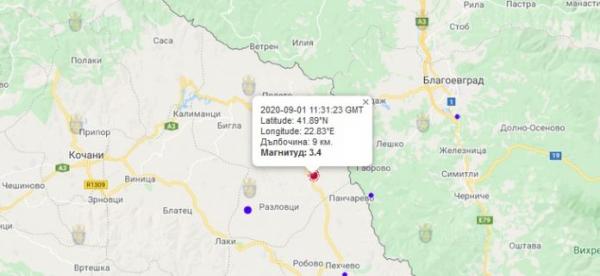 1-го сентября 2020 года на Западе Болгарии произошло землетрясение