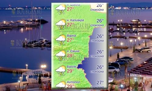 23 июля 2018 года температура морской воды в Болгарии впервые в этом сезоне превысила +27°С