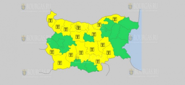 На 8-е августа в Болгарии — жаркий Желтый код опасности