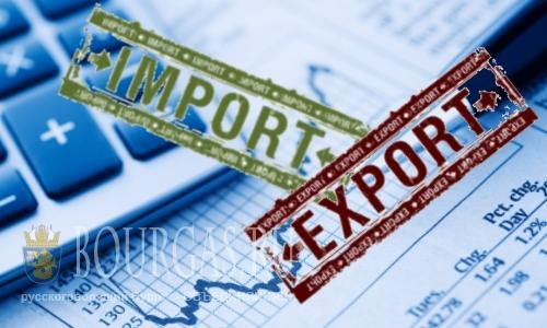 Импорт и экспорт в/из Болгарии сокращается