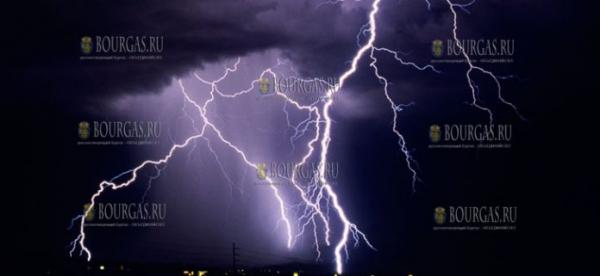 За прошедшие 24 часа в Болгарии зарегистрировано 25 000 ударов молнии