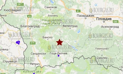 17 ноября 2017 года в Болгарии произошло землетрясение 2,9 балла по шкале Рихтера