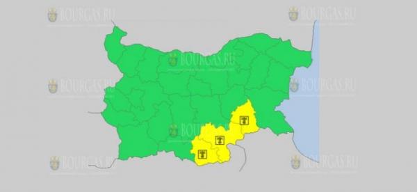 На 3 сентября в Болгарии — Горячий Желтый код опасности