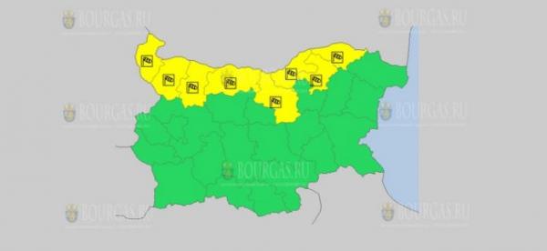 На 30 сентября в Болгарии — ветреный Желтый код опасности