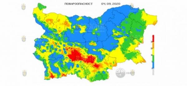 4-го сентября в 7 областях Болгарии объявлен Красный код пожароопасности