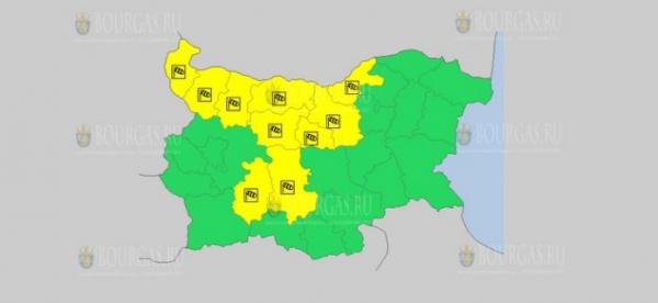 На 30 октября в Болгарии — ветреный Желтый код опасности