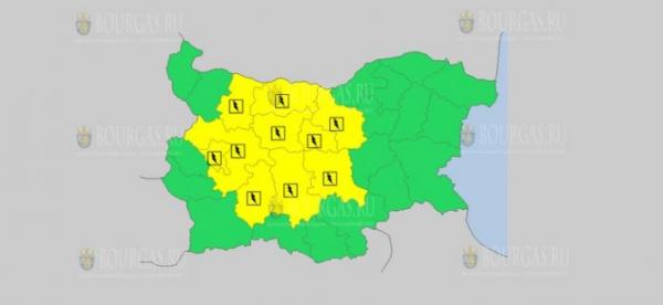 На 31-е мая в Болгарии — дождливый и грозовой Желтый код опасности