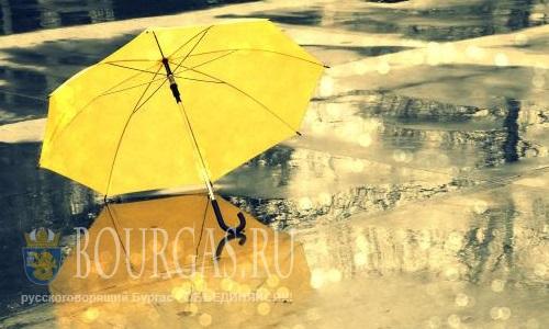 Снова Болгарию заливают дожди и объявлен Желтый код