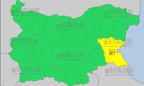 27 сентября в Болгарии — дождливый Желтый код опасности