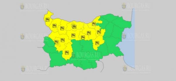На 7 июля в Болгарии — ветреный Желтый код опасности