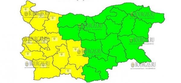 9 января в Болгарии — снежный Желтый код опасности