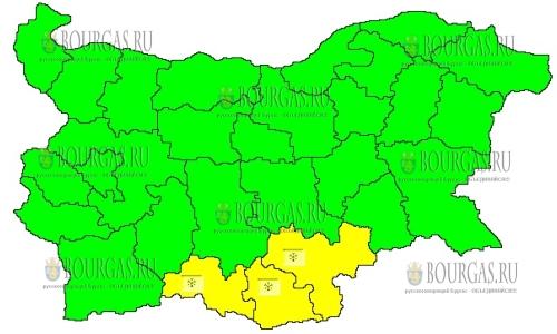 19 декабря в Болгарии — снежный Желтый код опасности