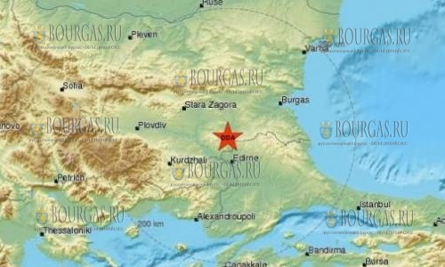 Сегодня с утра тряхнуло юго-восток Болгарии