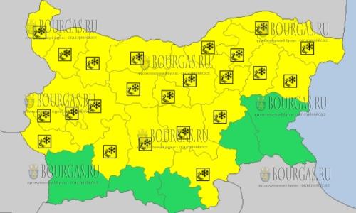 2 марта в Болгарии — скользкий Желтый код опасности