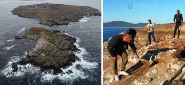 На острове Святого Петра в районе Созополя обнаружена древнегреческая святыня