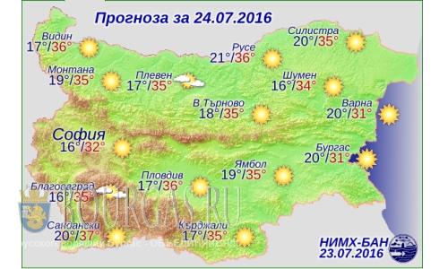 Погода в Болгарии — снова жаркий Желтый код