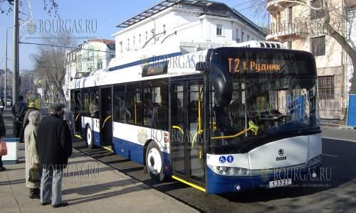 Троллейбусы в Бургасе в ближайший уик-энд на маршруты не выйдут