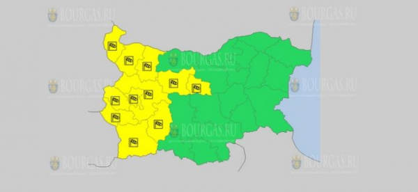 На 5-е января в Болгарии — ветреный Желтый код опасности