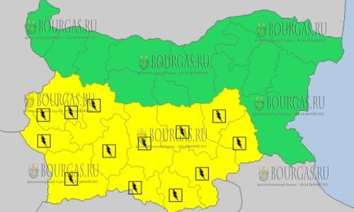 6 июня в Болгарии — грозовой и дождливый Желтый код опасности
