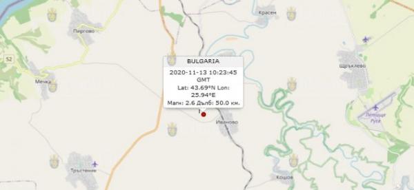 13-го ноября 2020 года на Севере Болгарии произошло землетрясение