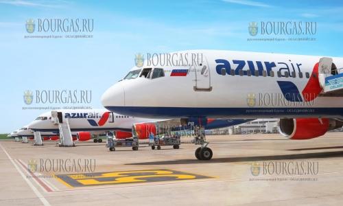 Лайнеры авиакомпании Azur Air будут летать в Болгарию