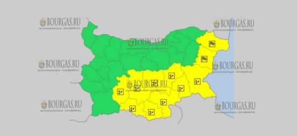 30 сентября в Болгарии — ветреный и дождливый Желтый код опасности