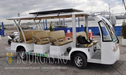 В Сарафово появился новый муниципальный эко-транспорт