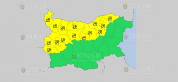 На 30 ноября в Болгарии — ветреный и снежный Желтый код опасности