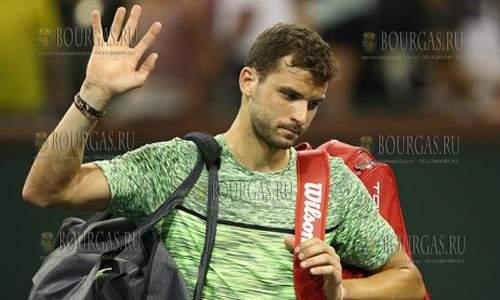 Григор Димитров покидает теннисный турнир ATP в Барселоне