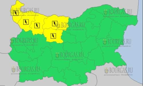 3 сентября в Болгарии — дождливый и грозовой Желтый код опасности