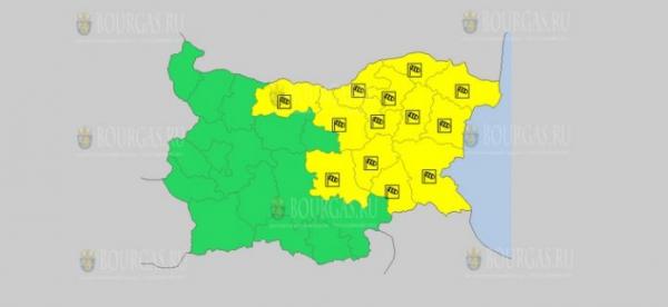 На 6 августа в Болгарии — ветреный Желтый коды опасности