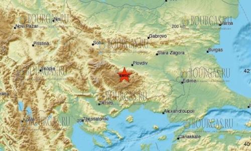 Слабое землетрясение в Южной Болгарии, в районе городка Девин