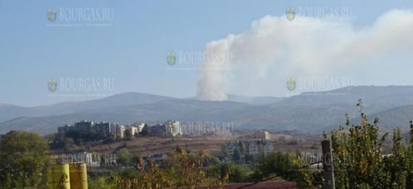 В Болгарии, в горах Рила — начался большой пожар