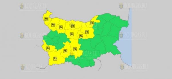 На 8 октября в Болгарии — ветреный Желтый код опасности