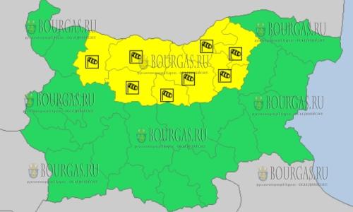 2 апреля в Болгарии — ветреный Желтый код опасности