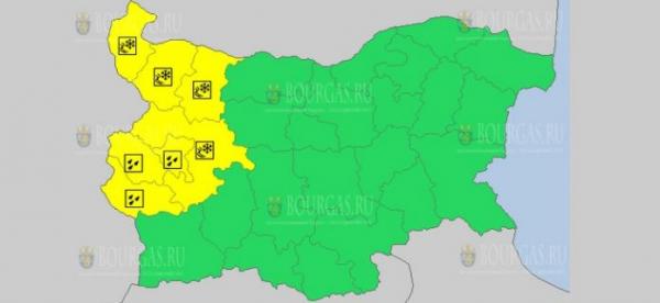 8-го января в Болгарии объявлен Желтый коды опасности