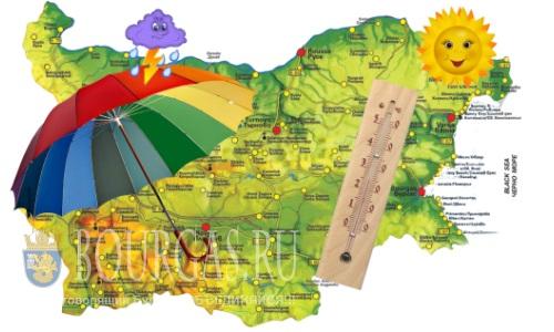 1 июня погода в Болгарии — до +34°С, повсеместно кратковременные дожди и грозы
