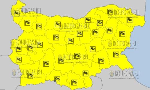 18 января в Болгарии — ветреный Желтый код опасности