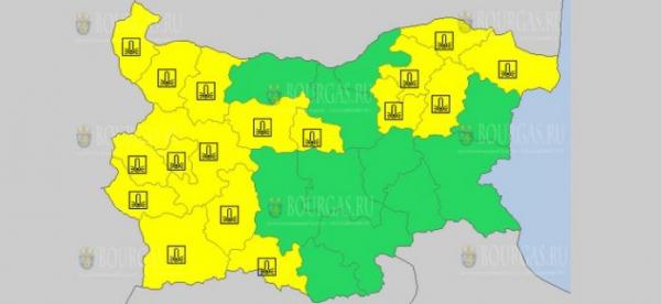 18-го января в Болгарии объявлен Желтый коды опасности