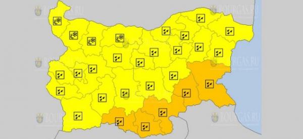 Непогода в Болгарии задержится