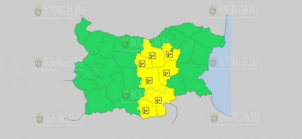 На 11 декабря в Болгарии — дождливый Желтый код опасности