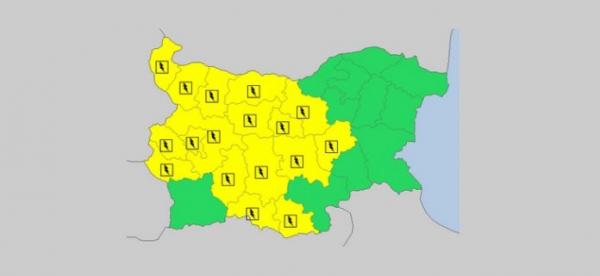 На 2-е июня в Болгарии — дождливый и грозовой Желтый код опасности