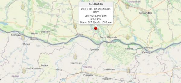 6-го января 2020 года на Юге Румынии произошло землетрясение