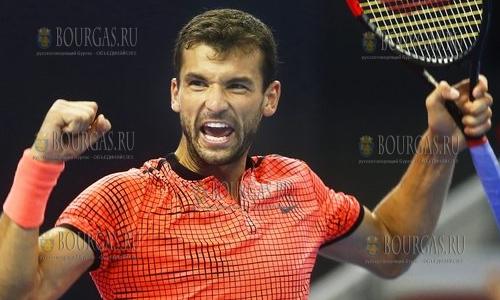Григор Димитров победил в первом круге US Open