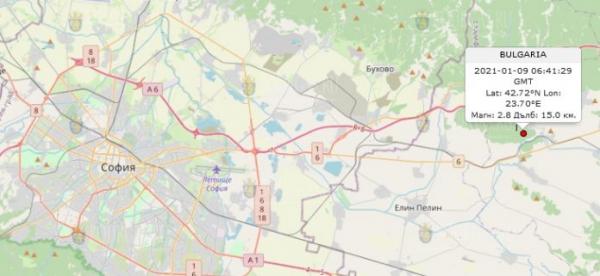 9-го января 2020 года в Центре Болгарии произошло землетрясение