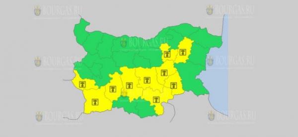 На 3-е июля в Болгарии — жаркий Желтый код опасности